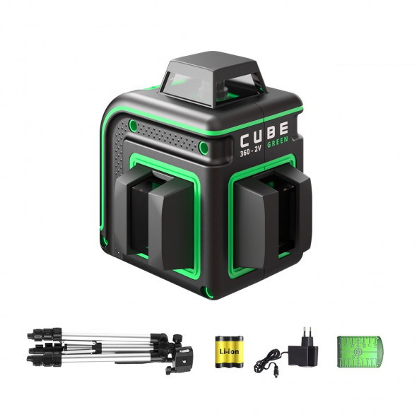 Laser level ADA CUBE 360-2V GREEN Professional Edition. CALIBRATED!. cnt. 215.00 €